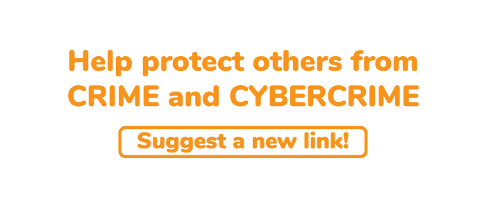 Protect others by suggesting a link on crime prevention